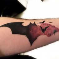 batman dövmesi bat tattoo