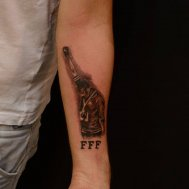 fist for fredom black salut tattoos